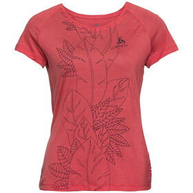 Odlo BL Concord SS Top Crew Neck Damen chrysanthemum-flower leaf print ss19